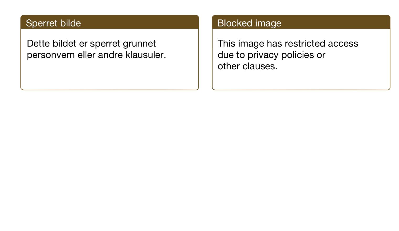 Viser plakat for sperret bilde