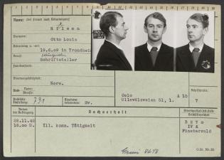 Passbilde på et fangekort