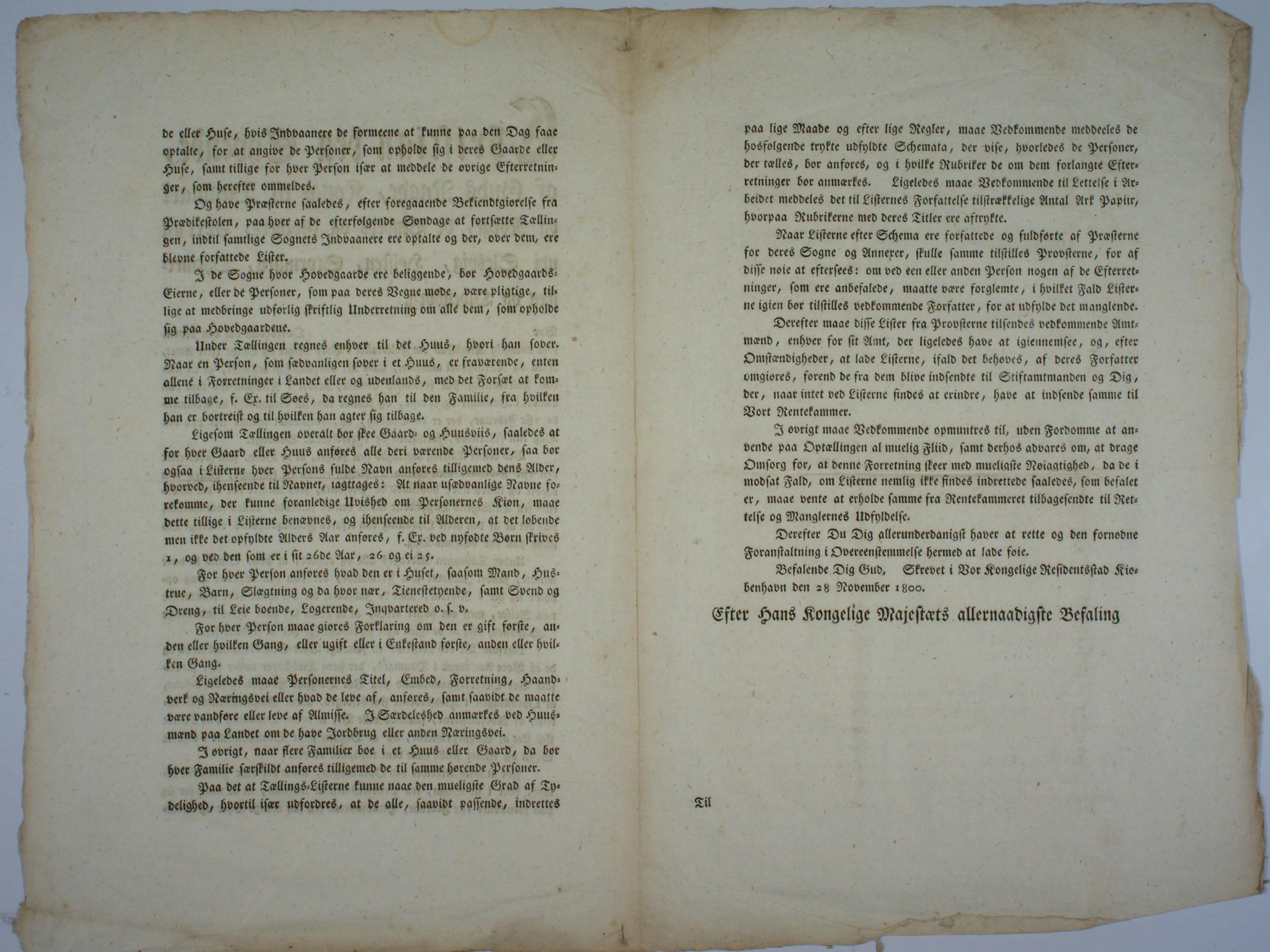Side 2 og 3 av trykt brev.