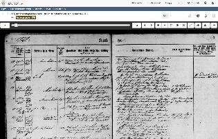 Skjermbilde fra SAB, Arna Sokneprestembete, H/Hab: Klokkerbok nr. A 1, 1869-1879, s. 7