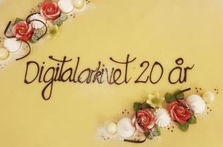 Kake i anledning digitalarkivet 20 års dag